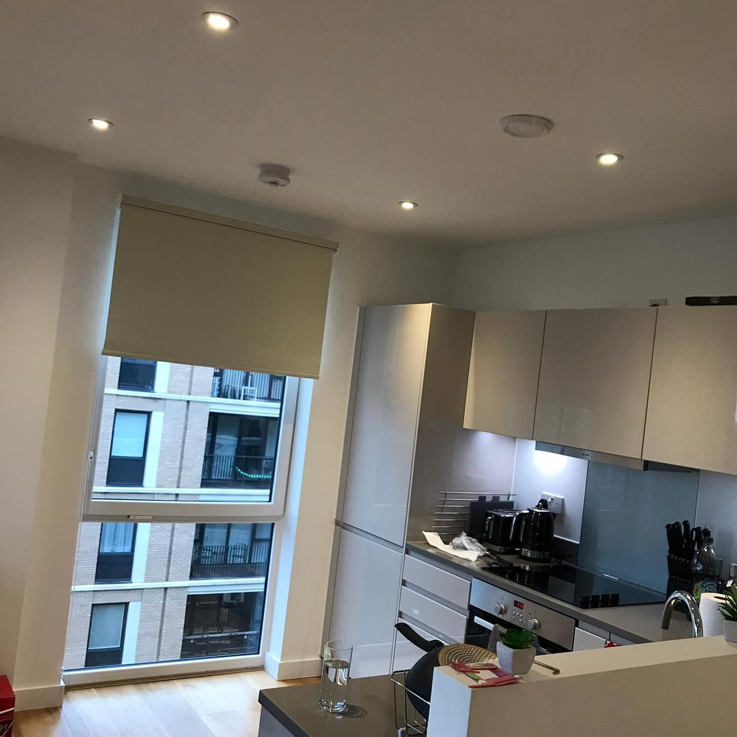 Electric Blinds - Cream - Kitchen