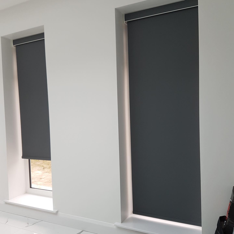 Electric Blinds - Dark Grey- Living Room