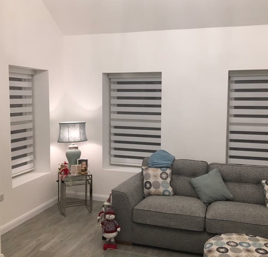 Electric Blinds - Grey - Living Room