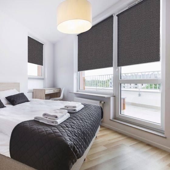 Roller Blinds - Dark Grey - Bedroom