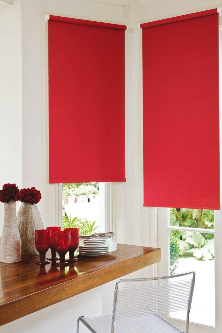 Roller Blinds - Red - Dining Room