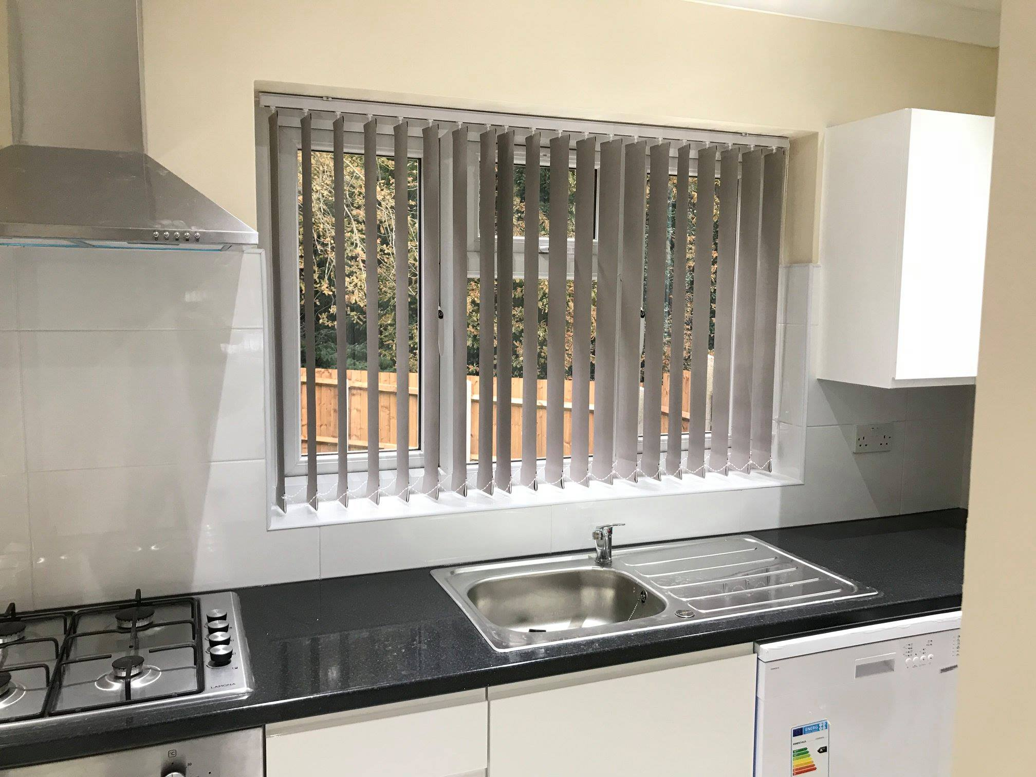 Vertical Blinds - Grey - Kitchen