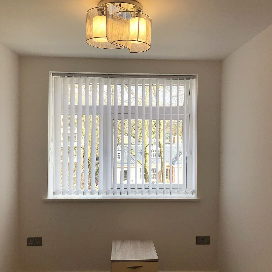 Vertical Blinds - White - Bedroom