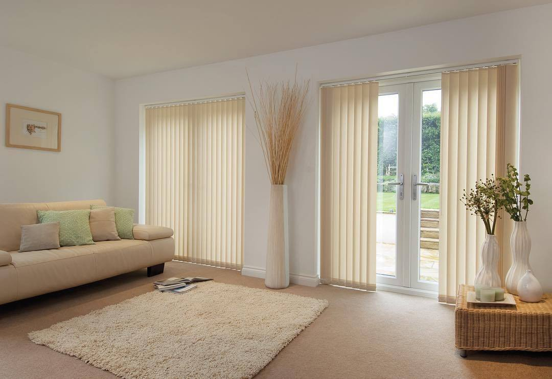 Vertical Blinds - Off White - Living Room