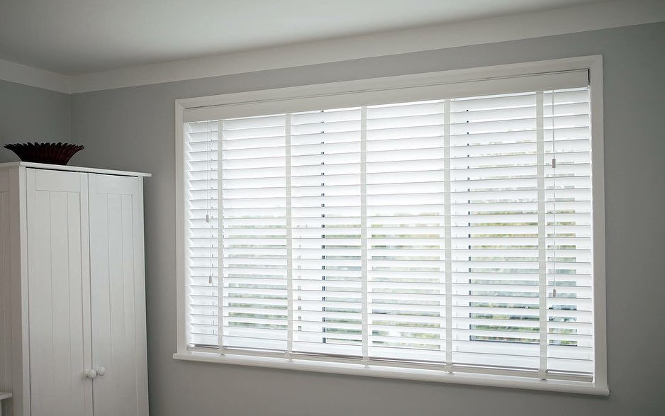 Wooden Blinds - White - Bedroom