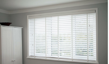 Wooden Blinds - white -- bedroom - recent projects